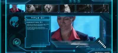 HIGH TECH OS (sci-fi video display)