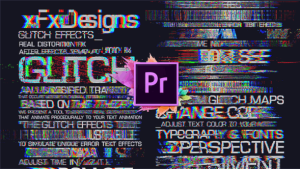 30 Glitch Text Presets For Premiere Pro | Mogrt