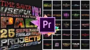 25 SuperHero Titles Pack For Premiere Pro | Mogrt