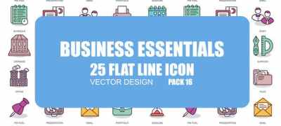 Business Essentials - Flat Animation Icons