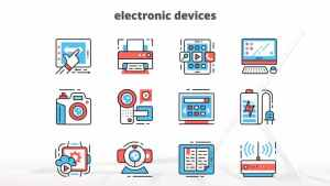 Electronic Devices – Thin Line Icons
