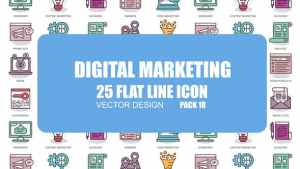 Digital Marketing - Flat Animation Icons