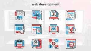 Web Development – Thin Line Icons