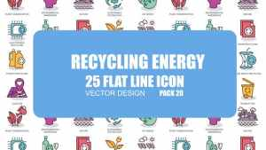 Recycling Energy - Flat Animation Icons
