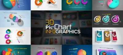 3D Pie Chart Infographics