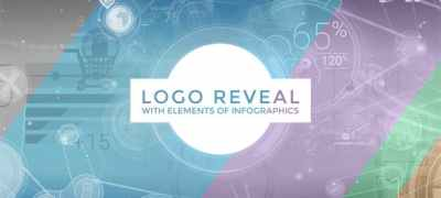 Logo Reveal With Elements Of Infographics