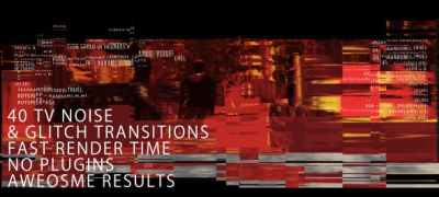 TV noise & Glitch Transitions
