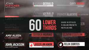 60 Lower Thirds