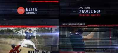Action Trailer Digital Glitch
