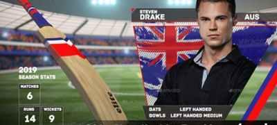 Cricket Player Headshot Transition