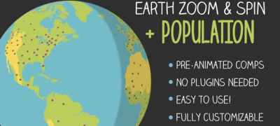 Earth Zoom and Spin with Population