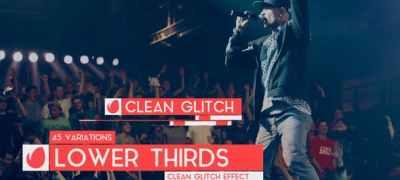 Clean Glitch - Lower Third