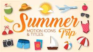 Summer Trip - Motion Icons & Titles