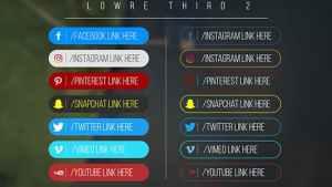 Minimal Social Media Lower thirds