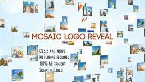 Mosaic Logo Reveal | After Effects Template