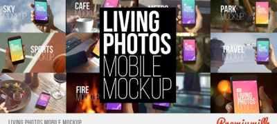 Living Photos Mobile Mockup