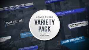 Lower Thirds Collection Pack