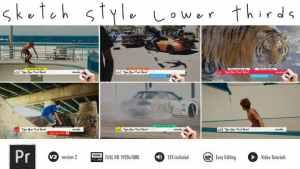 Lower Thirds - Sketch - Premiere Pro