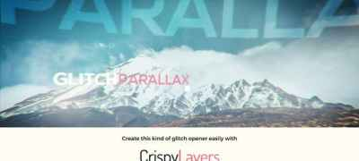 Glitch Parallax Video Opener