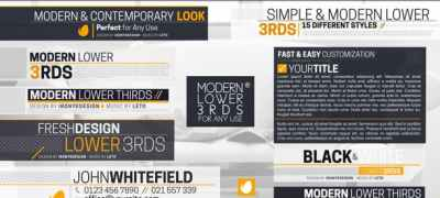 Modern And Simple Lower Thirds Package