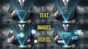 Hologram Businessman Screens