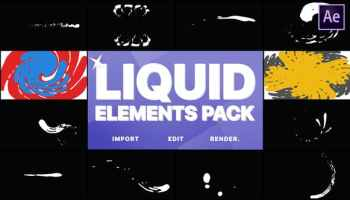 After Effects Projects | Download 2D FX Liquid Transitions