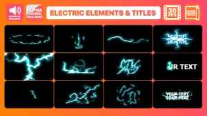 Flash FX Electric Elements And Titles | After Effects