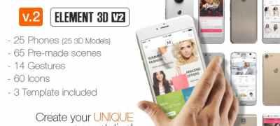 Popular Phones Mock-up Kit