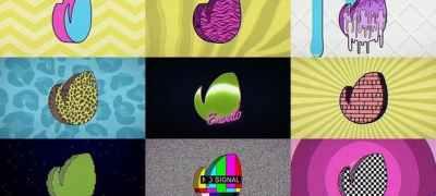 80s Retro TV Logo