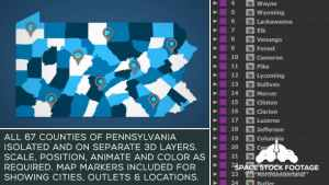 Pennsylvania Map Kit