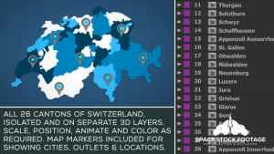 Switzerland Map Kit