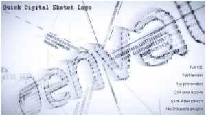 Quick Digital Sketch Logo