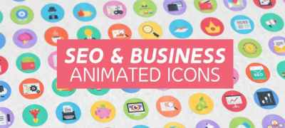100 Seo & Business Modern Flat Animated Icons