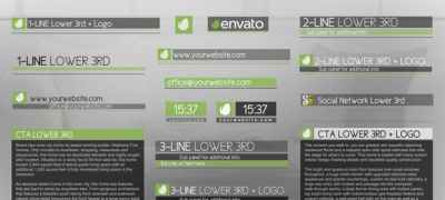 Discreet Simple And Modern Lower Thirds Package