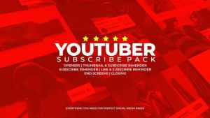 Youtuber Subscribe Pack