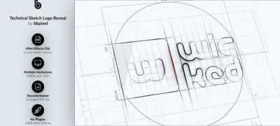 Technical Sketch Logo Reveal