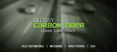 Glossy Carbon Fiber Lower Thirds