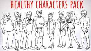Healhty Lifestyle - Sport, Fitness, Medicine Characters - Doodle Whiteboard Animation