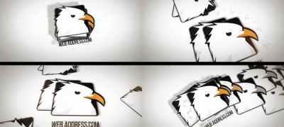 Minimal Business Falling Logos