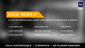 Local News Elements Lower Third Package