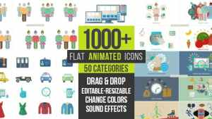 Flat Animated Icons 1000+