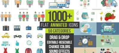 Flat Animated Icons 1000+