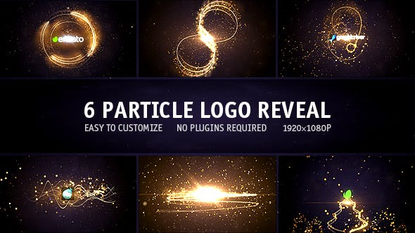 Download Particle Logo Reveal Pack 6in1 – FREE Videohive