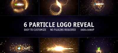 Particle Logo Reveal Pack 6in1