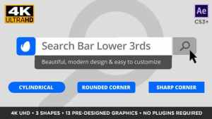 Search Bar Titles and Lower Thirds