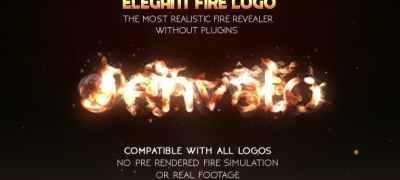 Elegant Fire Logo (No Plugin)