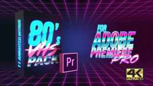 80's VHS Intro Pack | MOGRT for Premiere Pro
