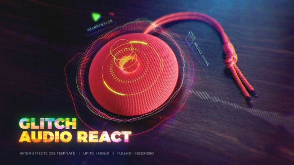 After Effects Projects | Download Glitch Audio React - FREE