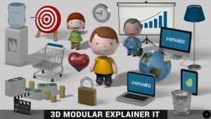 3D Modular Explainer Kit