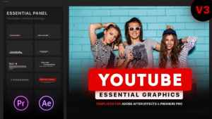 Youtube Essential Library | MOGRT for Premiere